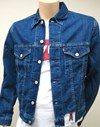 levi's® western style denim jacket 72510.00.11 stone wash